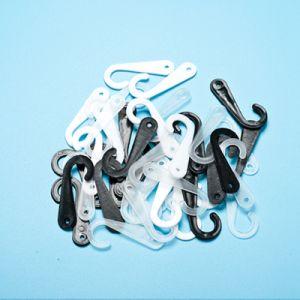 [Sinfoo] White Plastic J Shape Hanging Hooks for Socks (SH001J1-5) pictures & photos