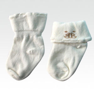 Baby 100% Organic Cotton Cute Sock pictures & photos