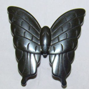 40*57mm Butterfly Hematite Gemstone Carving