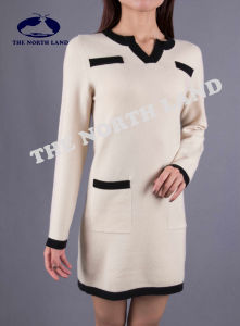 Ladies Cashmere Long Pullover with Porket pictures & photos