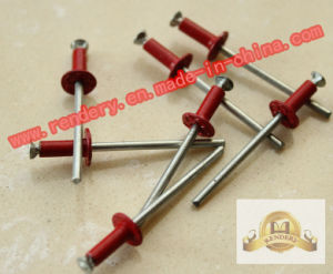 Screw/Large Flange Head Aluminum Blind Rivets Red pictures & photos