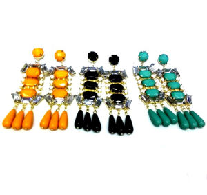 8cm Acrylic Stone Fashion Drop Earrings (HER-130520)