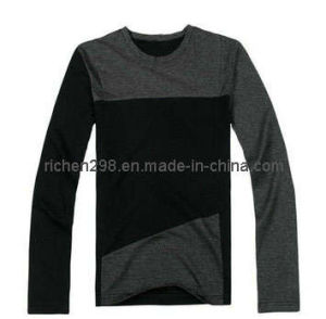 Round Neck Men′s Long Sleeve T Shirt