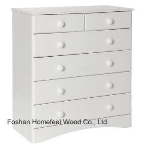 Traditional White Wooden Bedroom 6 Drawer Storage Cabinet (HC24) pictures & photos