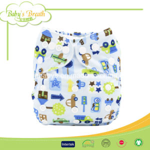 Fashion 100% Cotton Solid Embroidery Baby Cloth Diaper