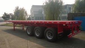 Cimc $9000 Low Price Stock 40FT Flatbed Semi Truck Trailer Chassis pictures & photos