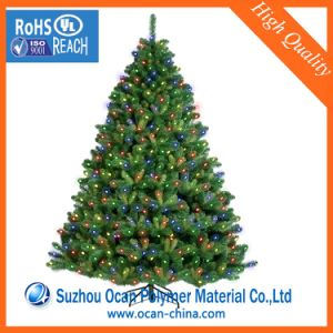 Dark Green PVC Plastic Sheet Roll for Christmas Tree Leaves pictures & photos