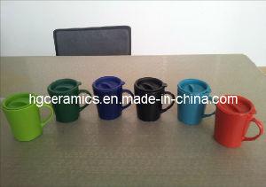 Ceramic Mug with Plastic Lid pictures & photos