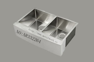 Double Bowl Stainless Steel Apron Front Kitchen Sink Ar332264