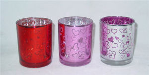 Colorful Silver Plating Glass Candle Holder/ Candle Cup pictures & photos