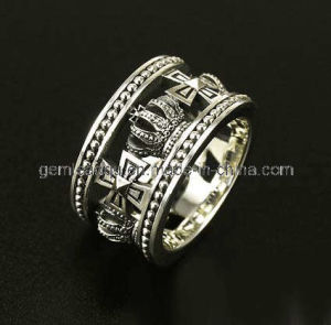 925 Sterling Silver Ring, Royal Crown Desings (HLSR-003)
