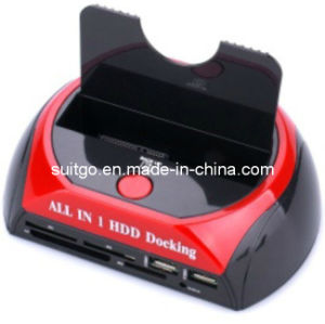 All-in-1 Card Reader Single SATA HDD Docking Station