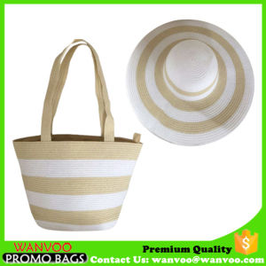 Set of Straw Beach Bag and Hat for Lady pictures & photos