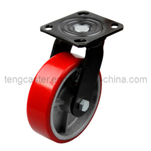 Industrial Heavy Duty Swivel Caster with PU on Iron Core