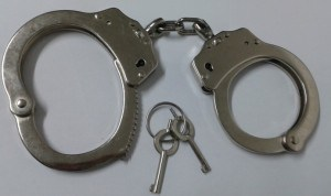 D-Type Carbon Steel Handcuffs pictures & photos