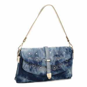 Deluxe Design Patterned Rhinestones Front Cross-Body Bag (MBNO040031) pictures & photos