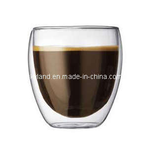 Heat Resistant Double Wall Glass Coffee Cup