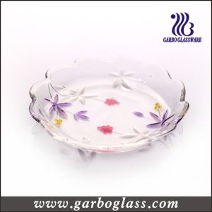Glass Cake Plate (PJ-349-1C) pictures & photos
