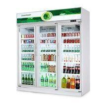 Upright Beverage Cooler 3 Door Commercial Refrigerator