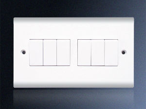 6 Gang 1 Way Electrical Wall Switch
