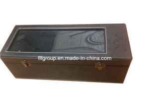 Decorative Classical Recycled Wholesale Single Leather Wine Box (FG8015) pictures & photos