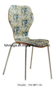 Flower Pattern Bentwood Stackable Cafeteria Restaurant Chair (FOH-XM57-346) pictures & photos