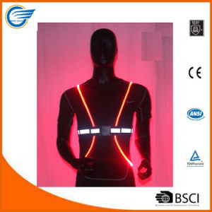 Adjustable Lightweight Reflective LED Vest for Cyclist pictures & photos