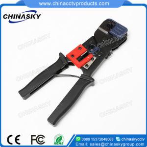 Cut Stripper CCTV Cable Crimp Tool for RJ45/Rj12/Rj11 Connector (T5006) pictures & photos
