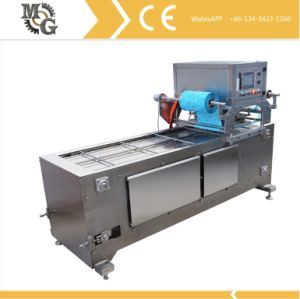 2 Lane Linear Vacuum Gas Driven Tray Sealer pictures & photos