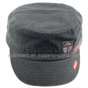 Washed Applique Embroidery Army Leisure Military Hat (TMM8138) pictures & photos