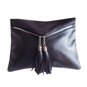 Fashion Leather Clutch Bag with Tassels (E342) pictures & photos