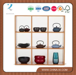 Customized Wooden Stackable Display Shelf for Home or Retail pictures & photos