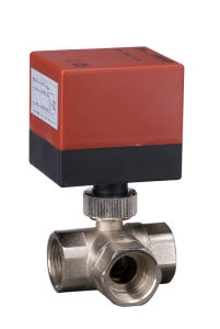 3-Way Electric Brass Motorized Control Ball Valve (DQ320) pictures & photos