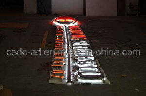 LED Acrylic Stainless Steel Surface Side of The LED Word