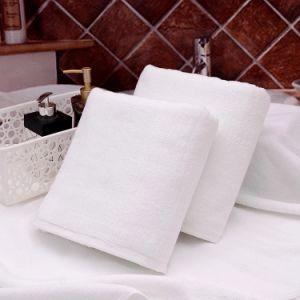 Hotel Textile 100% Cotton Plain White Bath Towel (JRC024)