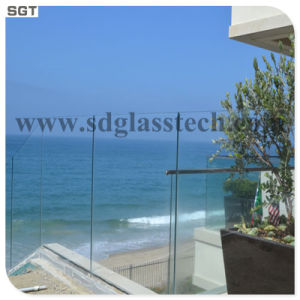 8-12mm Clear Float Tempered Frameless Balustrade Glass Handrail Glass pictures & photos