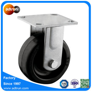 125mm Heavy Duty Rubber Fixed Caster Wheels for Trolley pictures & photos