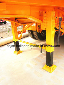 Three Axle 20FT Flatbed Container Dumper Semi Truck Trailer/Tipper Trailer pictures & photos