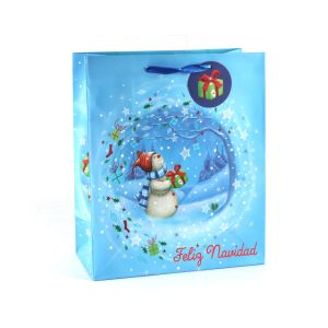 Dove Blue Art Coated Fashion Gift Paper Bag pictures & photos