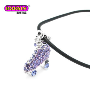 Hot Sale Colorful Rhinestone roller Skate Charms Wholesale Pendant Jewelry Necklace pictures & photos