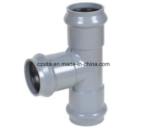 Hot PVC Reducing Tee (Three Faucet) with Rubber Ring pictures & photos