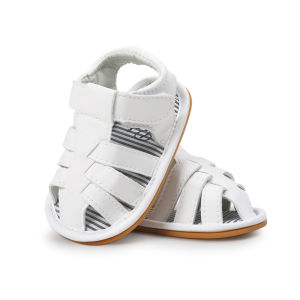 Baby Leather Moccasins, Neband Infant Baby Boys PU Leather Rubber Sole Summer Sandals First Walkers pictures & photos