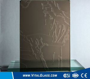 3-6mm Bronze Landscape Pattern Glass with CE&ISO9001 pictures & photos