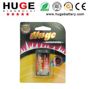 9V power carbon zinc dry cell battery 6F22 pictures & photos
