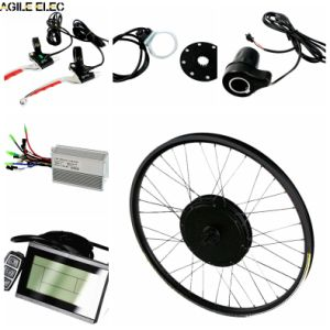 Agile 48V 1000W LCD Ebike Kit with 14ah Lithium Battery pictures & photos