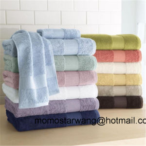 Bamboo/Cotton Bath Towels with Solid Colours pictures & photos