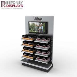 Wood Golf Ball Display Rack for Promotion with Monitor pictures & photos