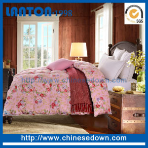 Luxury 90%Goose Down 10%Goose Feather Filled Quilt pictures & photos