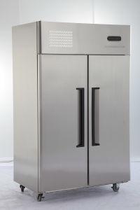 2 Door Double Temperature Restaurant Commercial Stainless Steel Freezer/ Refrigerator pictures & photos