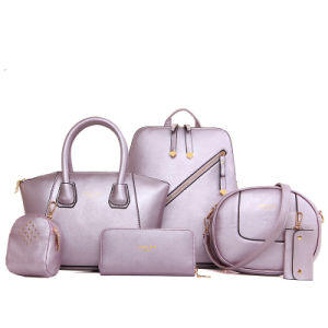2017 New European and American Style PU Handbags Six Sets of Fashion Shoulder Bag pictures & photos